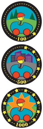 3 Badges