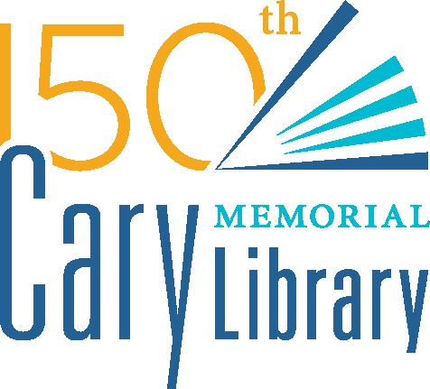 Cary Library 150th Anniversary logo