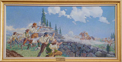 Painting of battle