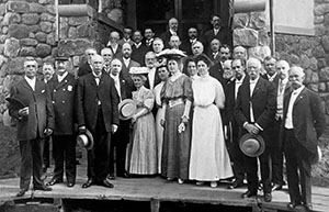 Historical photo of group of people